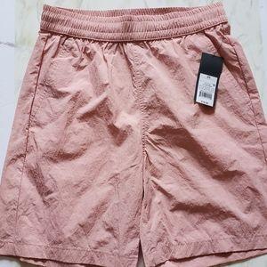 Womens Swim Shorts XS Pink Mesh Pockets Draw Strings